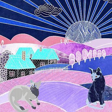 Hills Cats 2  by Design4uStudio