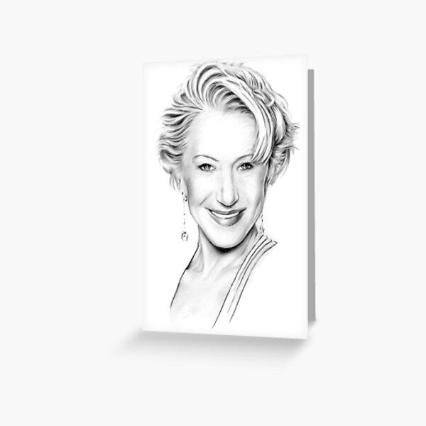 Helen Mirren Portrait Greeting Card