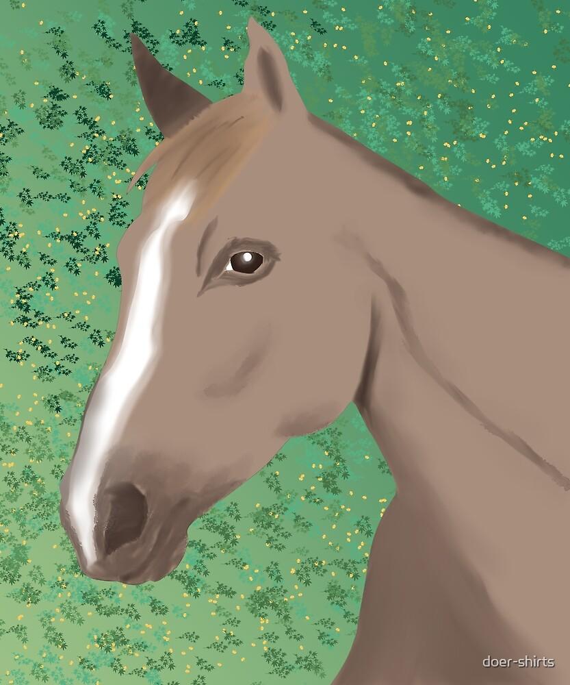 Digital Art Horse Portrait by doer-shirts