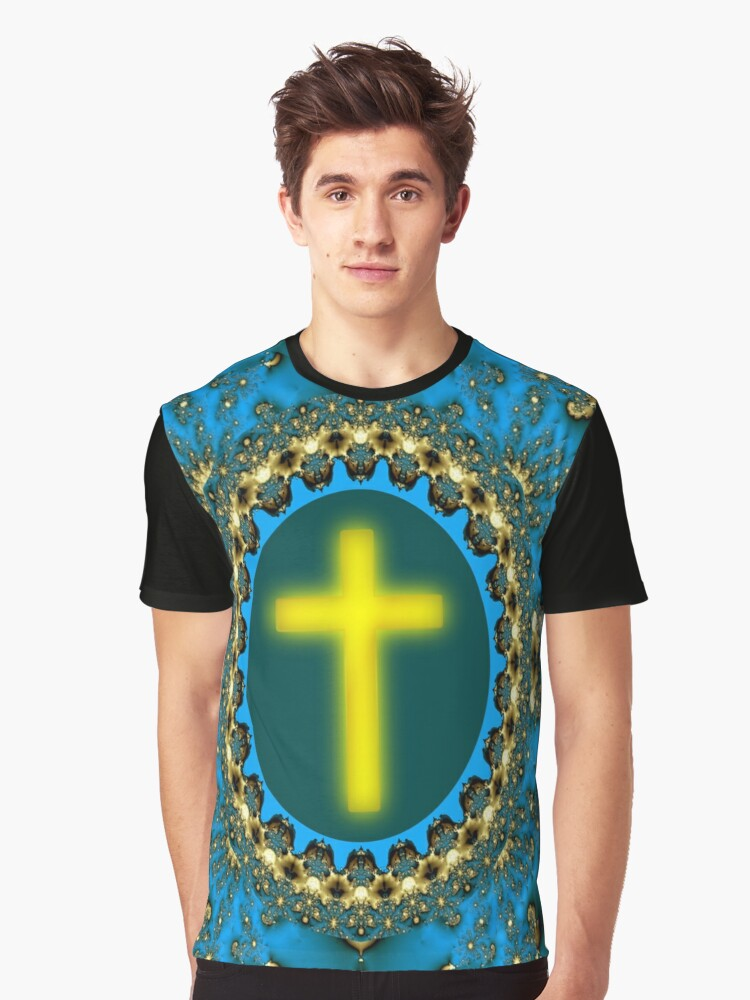COSMIC CROSS - REAL COSMIC MAN! Graphic T-Shirt Front