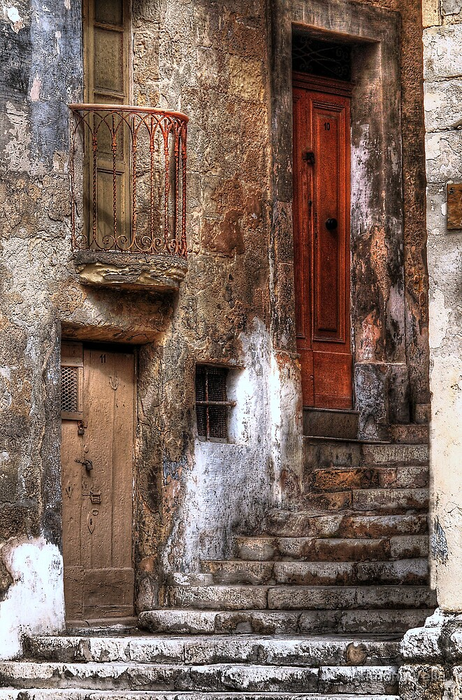 Senglea, Malta.The Old Quarter.  by Anthony Vella