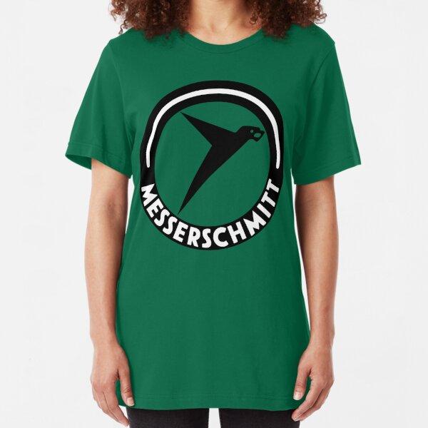 Messerschmitt Aircraft Logo -Black- (No Label) Slim Fit T-Shirt