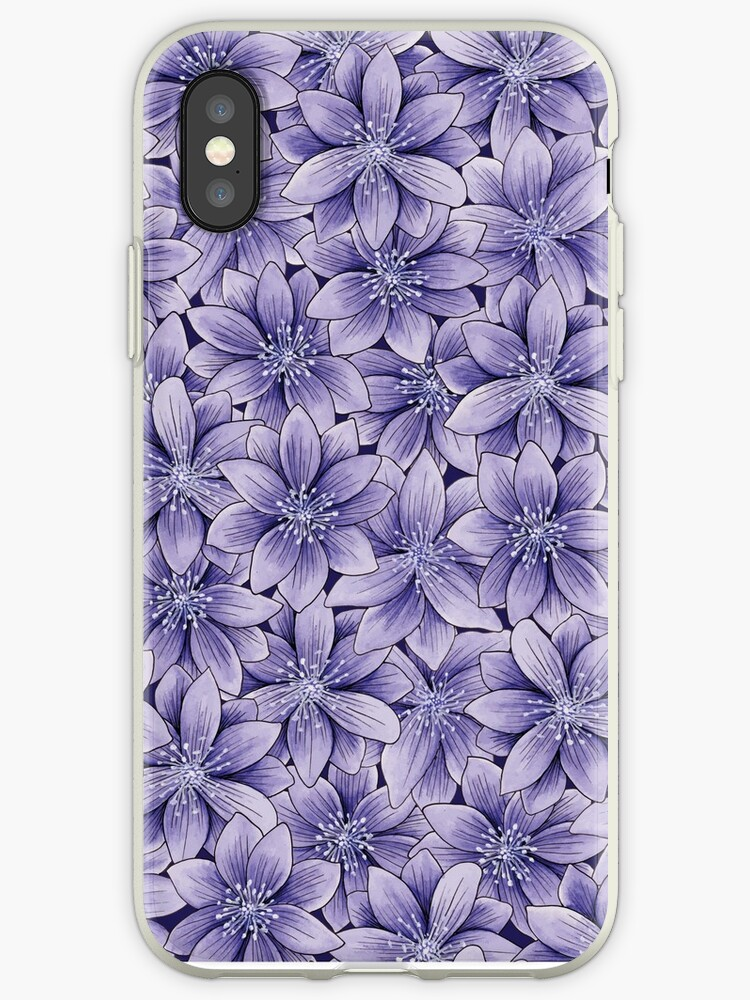Purple, Lavender, & Violet Flowers - Repeating Floral/Botanical Pattern by somecallmebeth