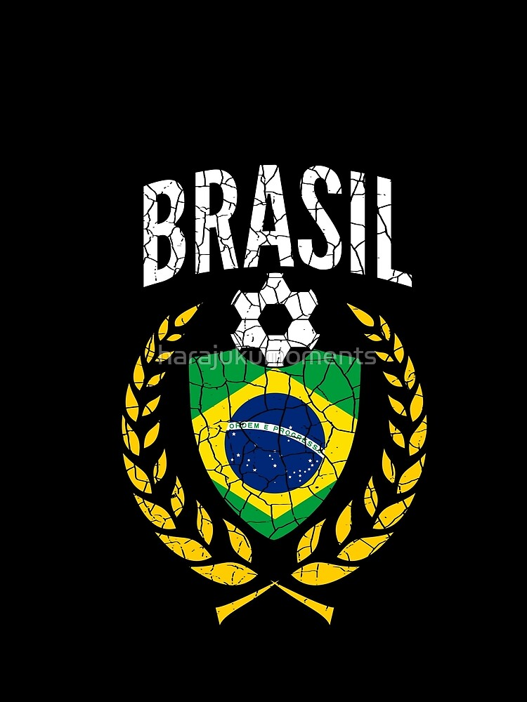 Brazil World Soccer Cup Jersey Laurel World Football Cup 2018 Vintage Distressed by harajukumoments