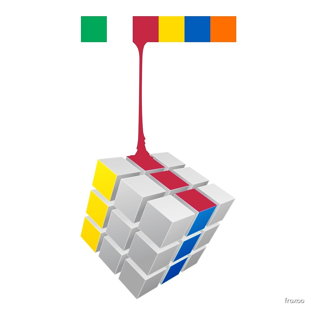 Rubiks Cube by froxoo