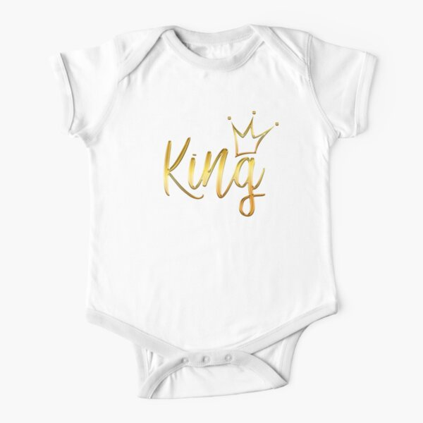 King Crown T Shirt Short Sleeve Baby One-Piece