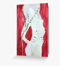 Semi Nude in RED Greeting Card