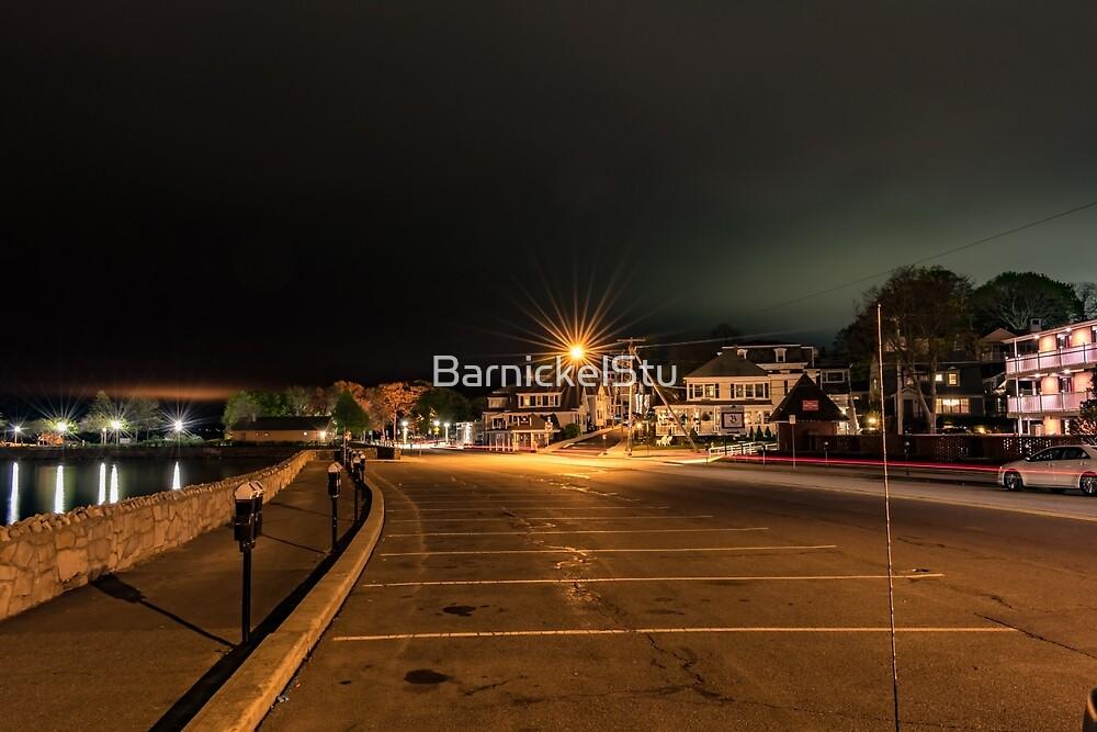 Looking Up Water Street at Night by BarnickelStu
