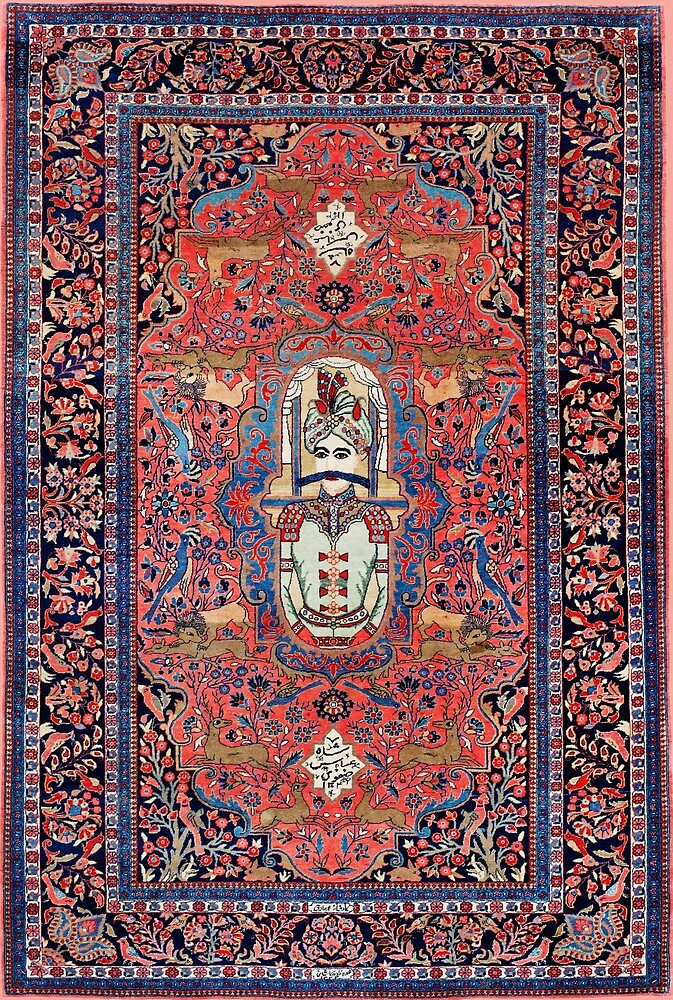 Antique Shah Abbas I Persian Rug by Vicky Brago-Mitchell