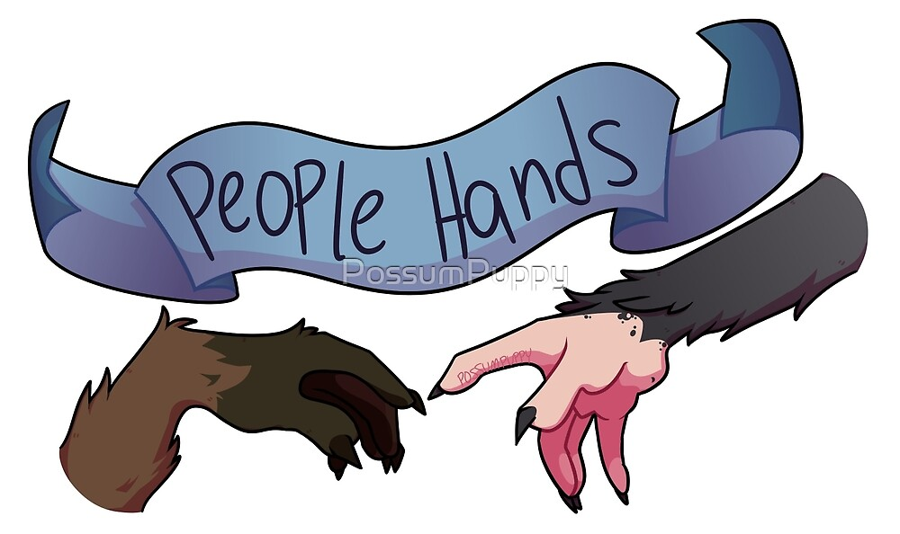 """People Hands"" (Creation of Adam parody) by PossumPuppy"