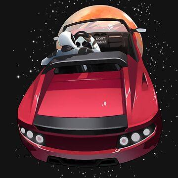 SpaceX Starman - Don't Panic - Tesla Roadster - Elon Musk by elonscloset