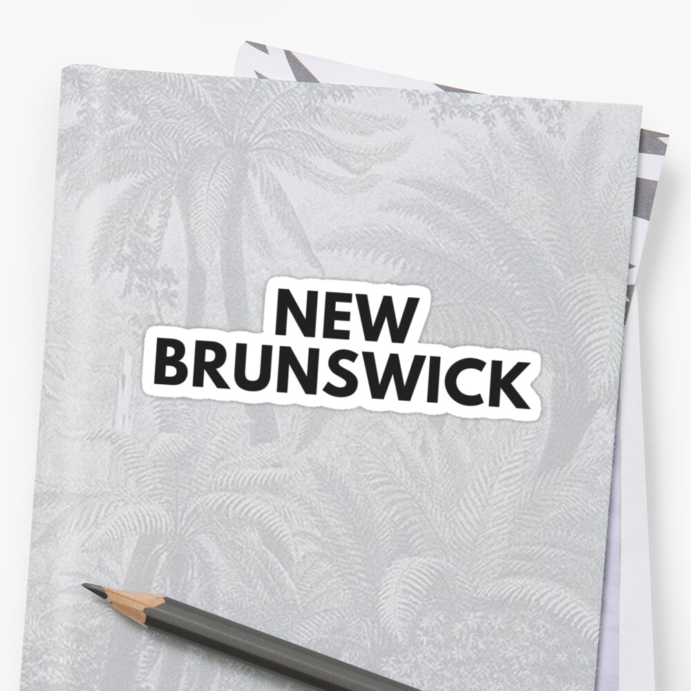 NEW BRUNSWICK • BLACK • BOLD by kassander