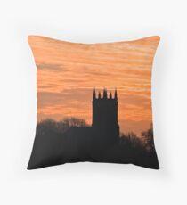 church sihouette Throw Pillow