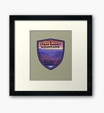Great Smoky Mountains National Park Vintage Smokies Badge Design   Framed Print