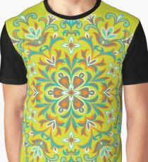 Colorful  Ethnic Floral Kaleidoscope Graphic T-Shirt