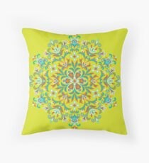 Colorful  Ethnic Floral Kaleidoscope Floor Pillow