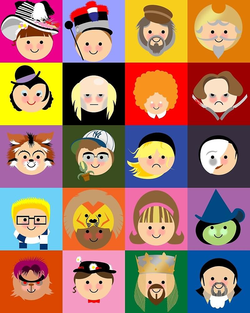 Broadway Cuties by clockworkmonkey