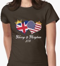 Royal Weddign 2018 Harry and Meghan  t-shirt Women's Fitted T-Shirt