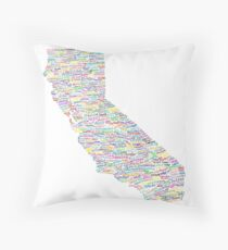 California Vibes Throw Pillow