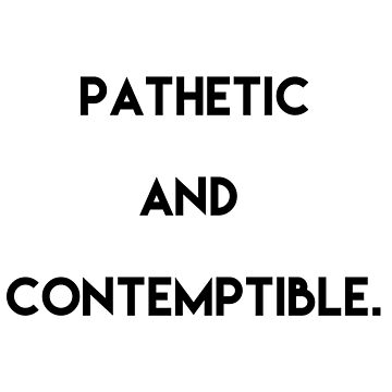 Pathetic and Contemptible by hairtriggertism