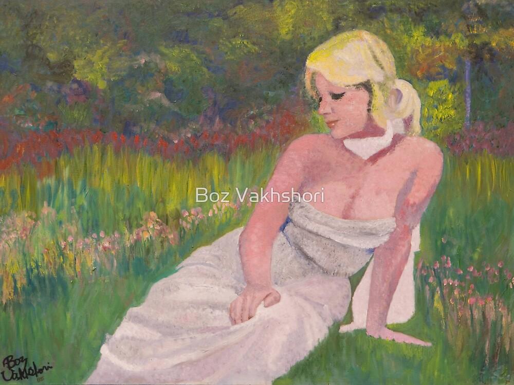 Lady  in the Garden. by Boz Vakhshori