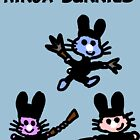 Ninja Bunnies by Rajee