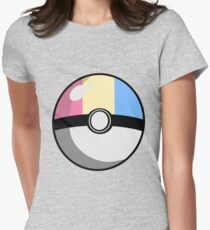 Pansexual Pride Poké Ball  Women's Fitted T-Shirt