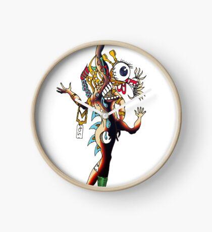 Distorted Creature Cartoon Clock