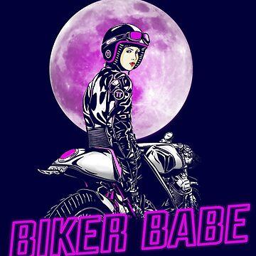 Biker Babe Girl Shirt Gift for Motorcycle Women by niftee
