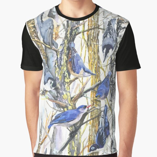 Nuthatch Forest Graphic T-Shirt