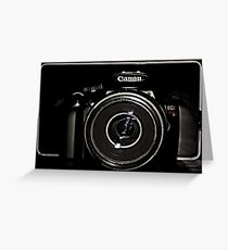 Canon Rebel T3 front Greeting Card
