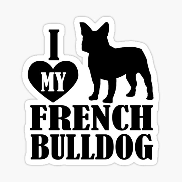 Black French Bulldog Stickers Redbubble