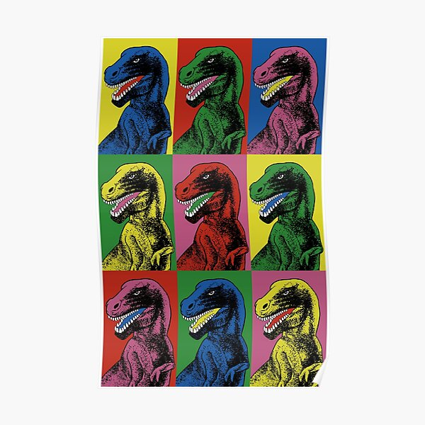 Dinosaur Pop Art Poster
