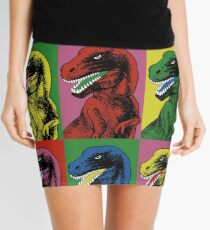Dinosaur Pop Art Mini Skirt