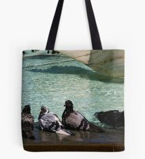 A Day At The Swimming Pool Tote Bag