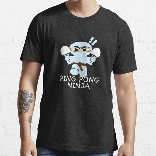 Ping Pong Ninja lustiger Tischtennis-Spieler Essential T-Shirt
