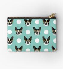 Logan - Boston Terrier pattern polka dots dog print gift for dog person dog lovers terrier custom Studio Pouch