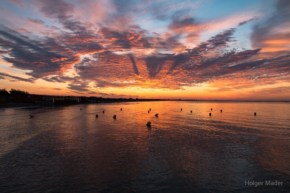 Just Before Sunrise, Carnon Beach, France by Holger Mader
