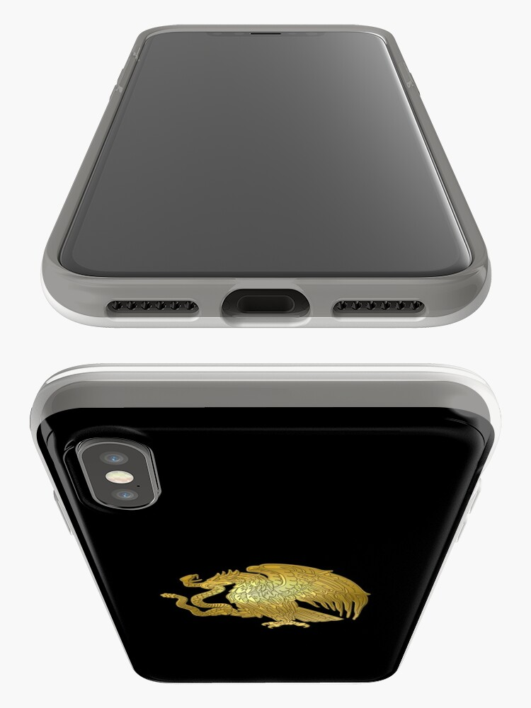 Vista alternativa de Vinilos y fundas para iPhone Oro Mexican Eagle