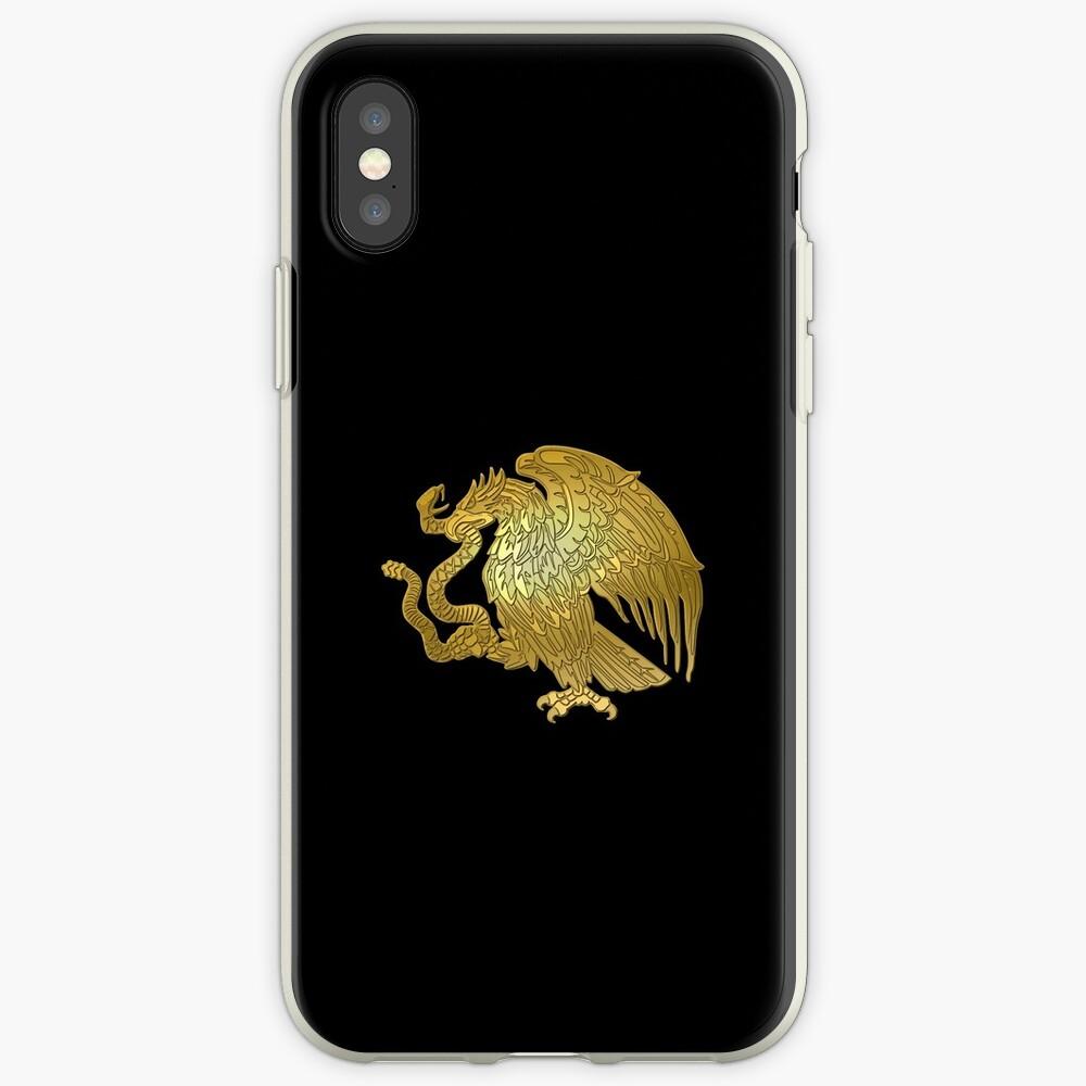 Oro Mexican Eagle Vinilos y fundas para iPhone
