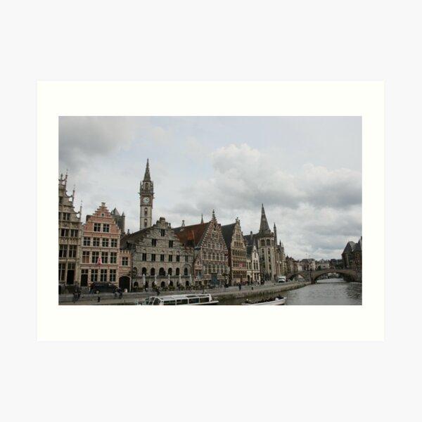 The Graslei, Ghent Art Print