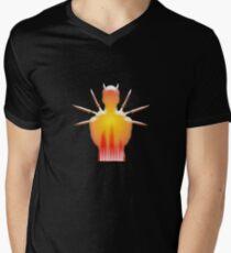 On Fire Mens V-Neck T-Shirt