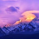 Meili Snow Mountain Shangri-la China Sunrise by Kirk  Hille