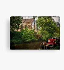 Church By The Oxford Canal Canvas Print