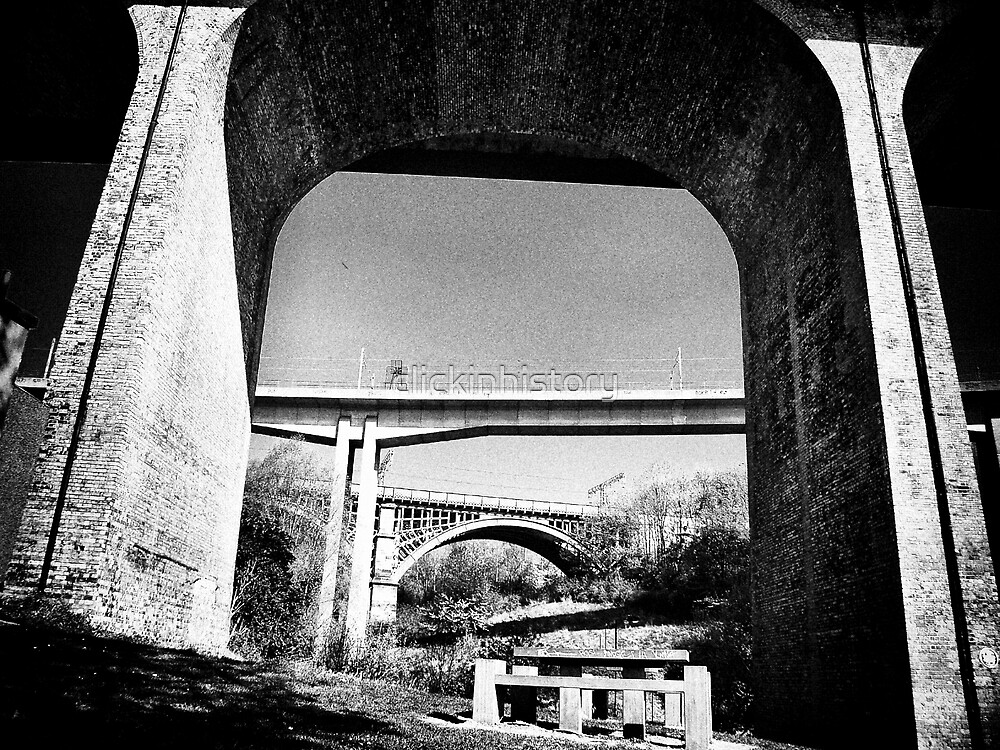 Three bridges over Ouseburn by clickinhistory