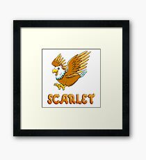 Scarlet Eagle Sticker Framed Print