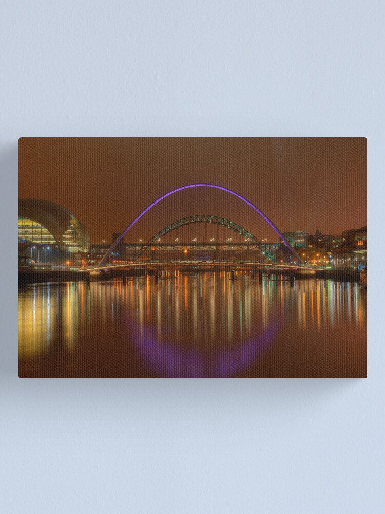 Alternate view of Tyne Bridges Canvas Print