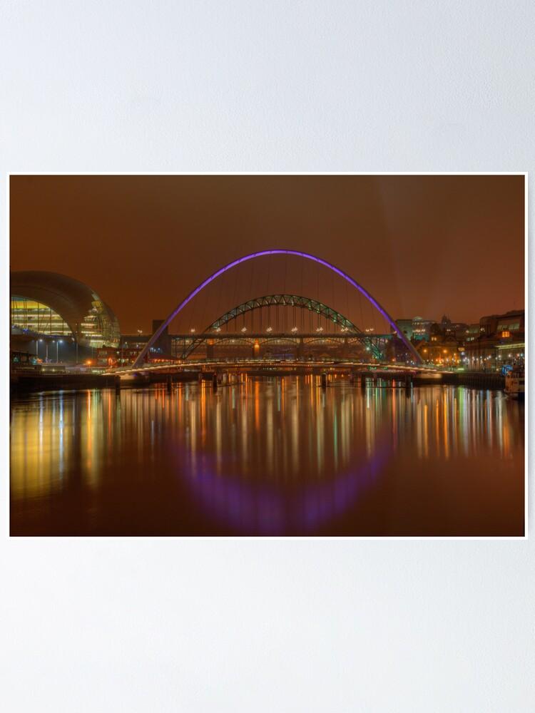 Alternate view of Tyne Bridges Poster