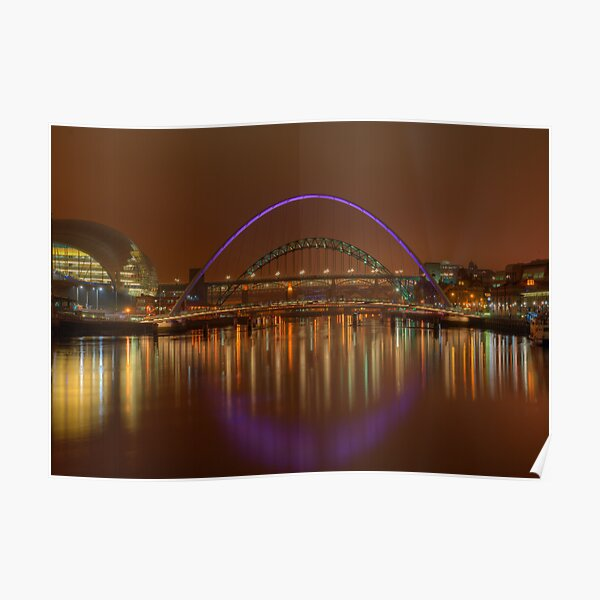 Tyne Bridges Poster