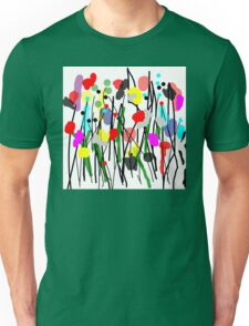 Fun Flowers in Bright Colors Unisex T-Shirt